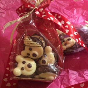 Bag of 6 Chocolate Truffle Creme Filled Bear Hugs | Chocolat in Kirkby Lonsdale