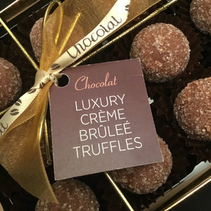 Box of Luxury Creme Brûlée Truffles | Chocolat in Kirkby Lonsdale