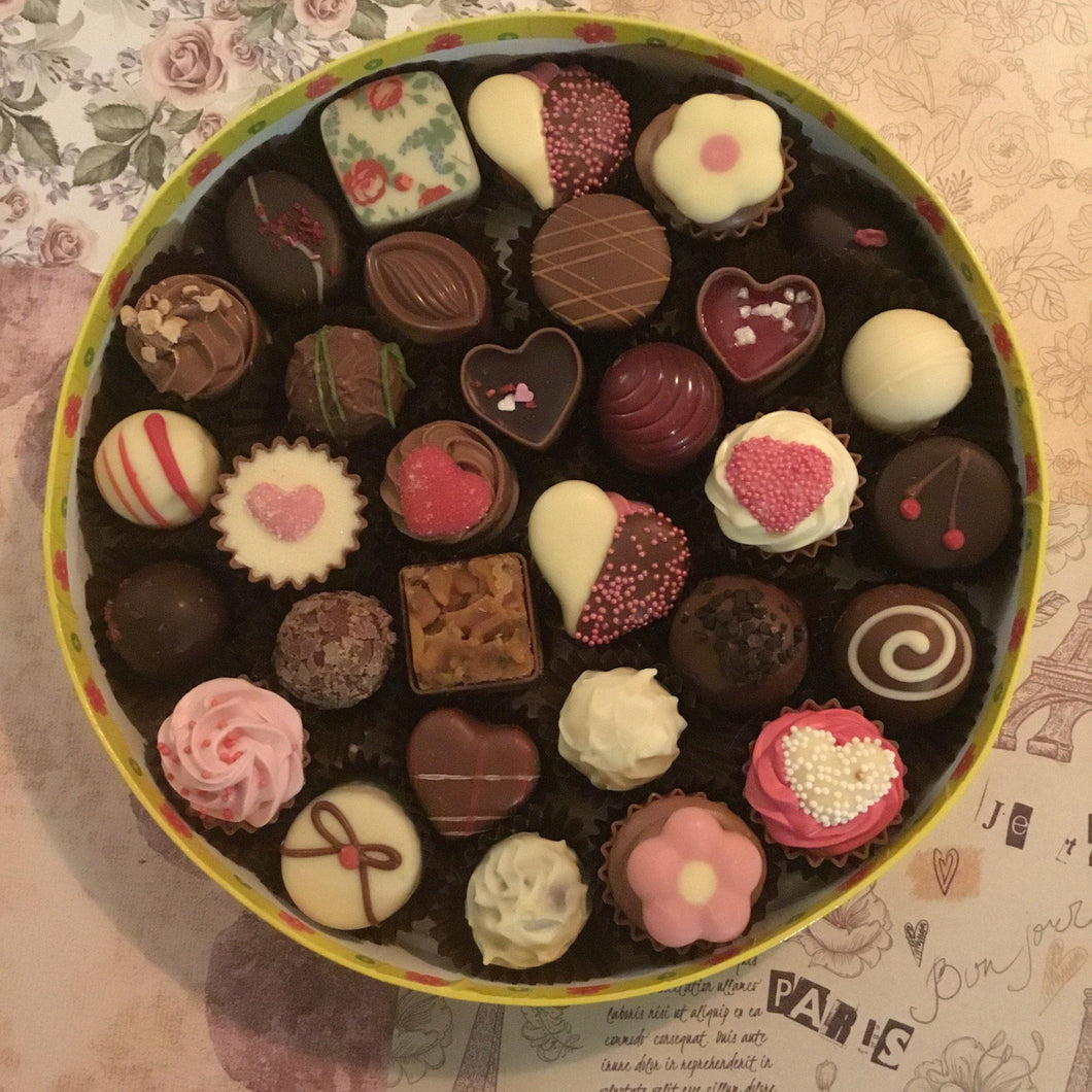 LIMITED EDITION Luxury Round 'Just For You' Mixed Chocolate Selection Box