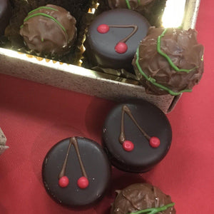 Cherry and Kirsch Ganache and Pistachio Truffles Selection Box | Chocolat in Kirkby Lonsdale