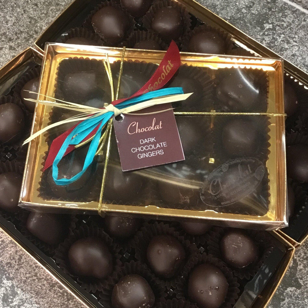 Box of Dark Chocolate Covered Gingers | Chocolat in Kirkby Lonsdale