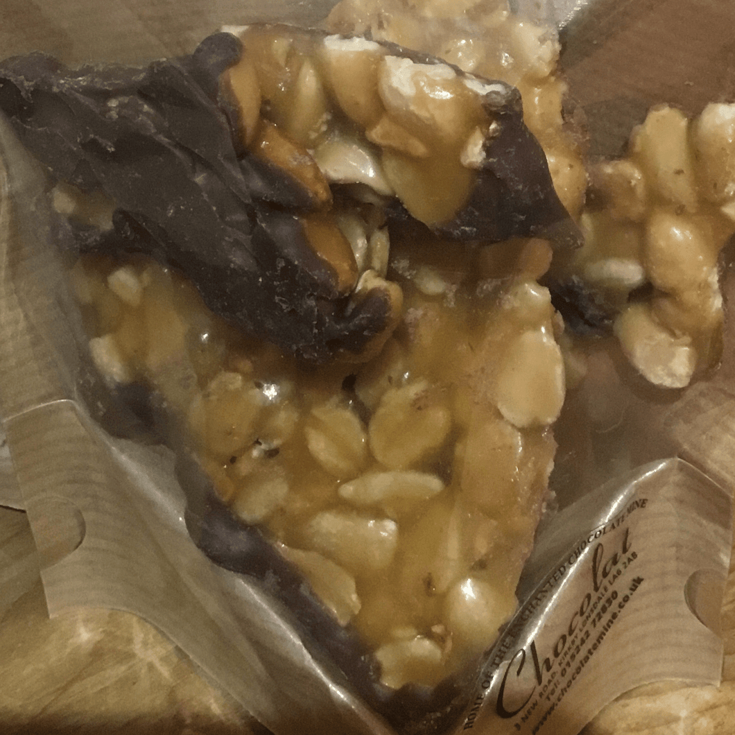 Bag of Chocolate Covered Peanut Brittle | Chocolat in Kirkby Lonsdale