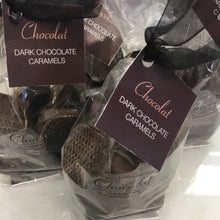 Load image into Gallery viewer, Bag of Chewy Dark Chocolate Covered Caramels | Chocolat in Kirkby Lonsdale