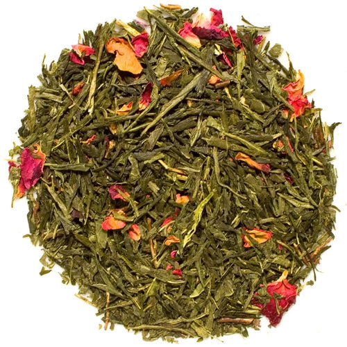 Sencha Kyoto Cherry Rose Loose Leaf Tea | Chocolat