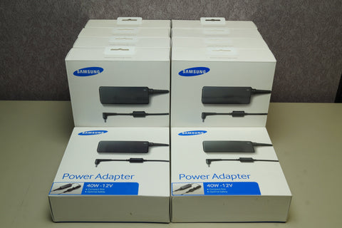Lot of 10 - OEM SAMSUNG AA-PA3N40W/US 12V 40W Charger For SmartPC Pro Chromebook - Red Leaf Tech Store