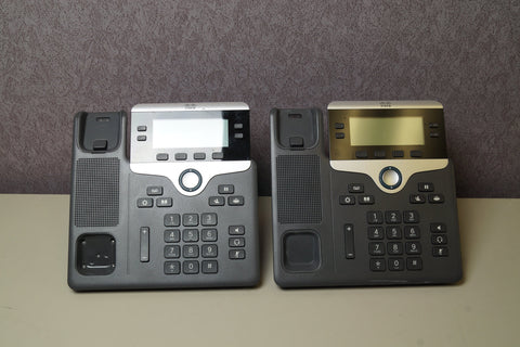 LOT OF 2 - CISCO 7841 CP-7841 UC VOIP 4-LINE BUSINESS PHONES - Red Leaf Tech Store