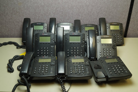 Lot of 10 - Polycom VVX300 PoE 48VDC Business Media Telephones 6 Lines - Red Leaf Tech Store