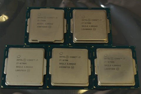 Lot of 5 - Intel Core i7-6700K CPU's  For Parts Only - Red Leaf Tech Store