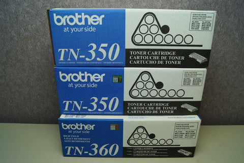 Brand New Genuine Brother Toner (2x) TN-350, (1x) TN-360 Unopened - Red Leaf Tech Store