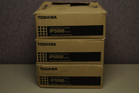Lot of 3 - Toshiba IP5522-SD Enterprise Business Phones Hearing Aid Compatible BRAND NEW
