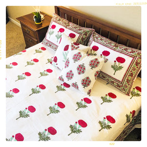 NEW!!  Kumkum - Flat Sheet Set