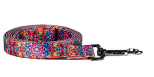 6ft tie dye leash- orange/pink mandala combo