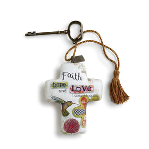 Faith Hope Love Artful Cross