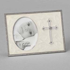 "3.75""H CROSS FRAME - HOLDS 2X3 CAROLINE COLLECTION"