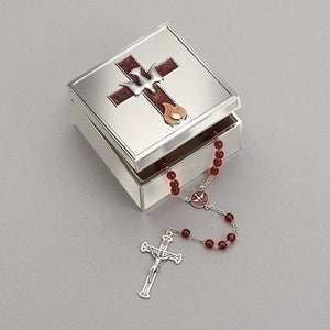 "2.25""H CONFIRMATION BOX W/DOVE AND FLAME ICONS"