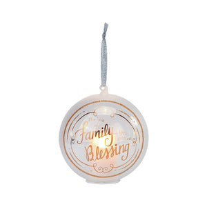 Lit The Love of Family Candle in Ball Glass Ornament