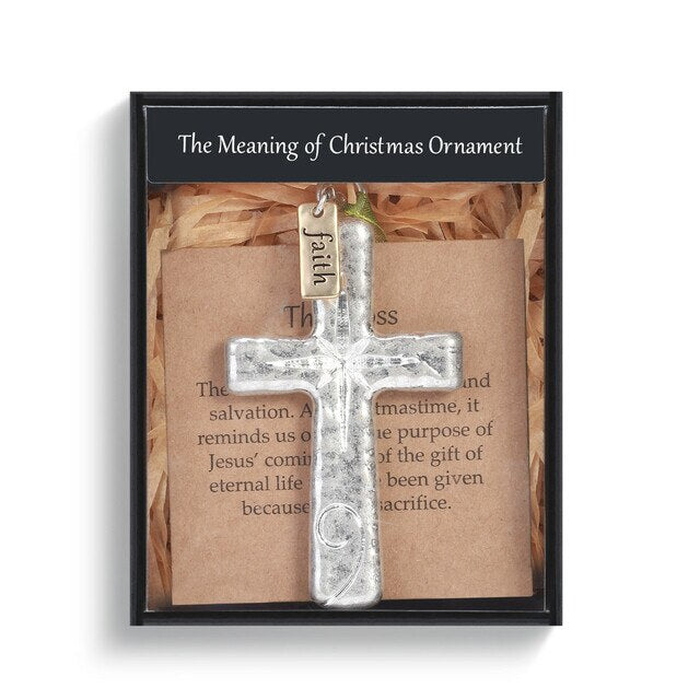 Meaning of Christmas Cross Ornament