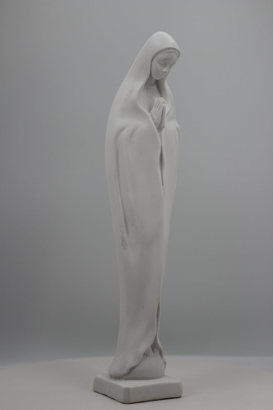 La Madonna in Prayer all White Statue by The Faith Gift Shop