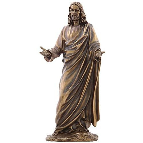 US 12.13 Inch Jesus (Son of God) with Open Arms Cold Cast Bronze Figurine
