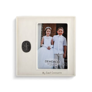 My First Communion Medallion Frame