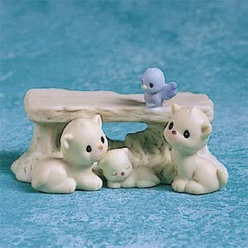 Precious Moments #291293 Enesco Mini Nativity Bench with kittens