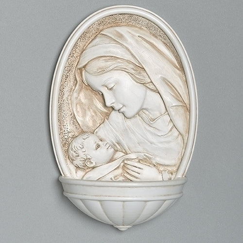 Joseph's Studio by Roman - Madonna and Child Holy Water Font