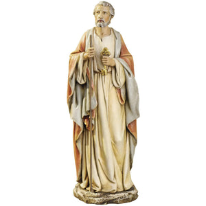 "Roman Joseph's Studio St. Peter Figure, 10"" Scale Renaissance Collection, 10.5"" H, Resin and Stone, Religious Gift, Decoration, Collection, Durable, Long Lasting"