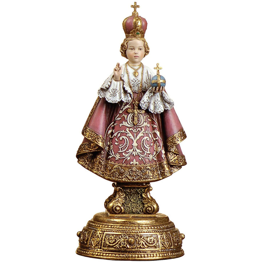 "Joseph's Studio by Roman - Infant of Prague Figure on Base, Heavenly Protectors, Renaissance Collection, 9.5"" H, Resin and Stone, Religious Gift, Decoration"