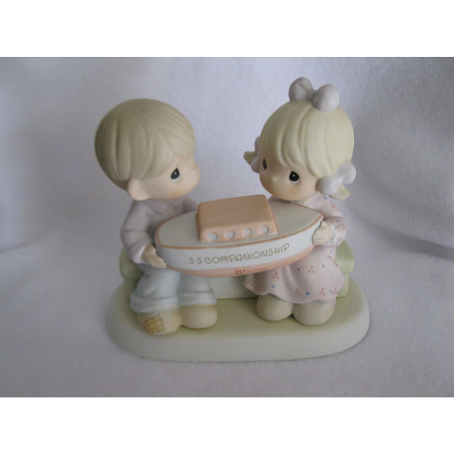 Precious Moments Companionship Happens in Our Club Figurine