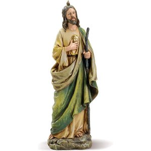 "Joseph's Studio by Roman - St Jude Figure on Base, 10"" Scale Renaissance Collection, 10.5"" H, Resin and Stone, Religious Gift, Decoration"