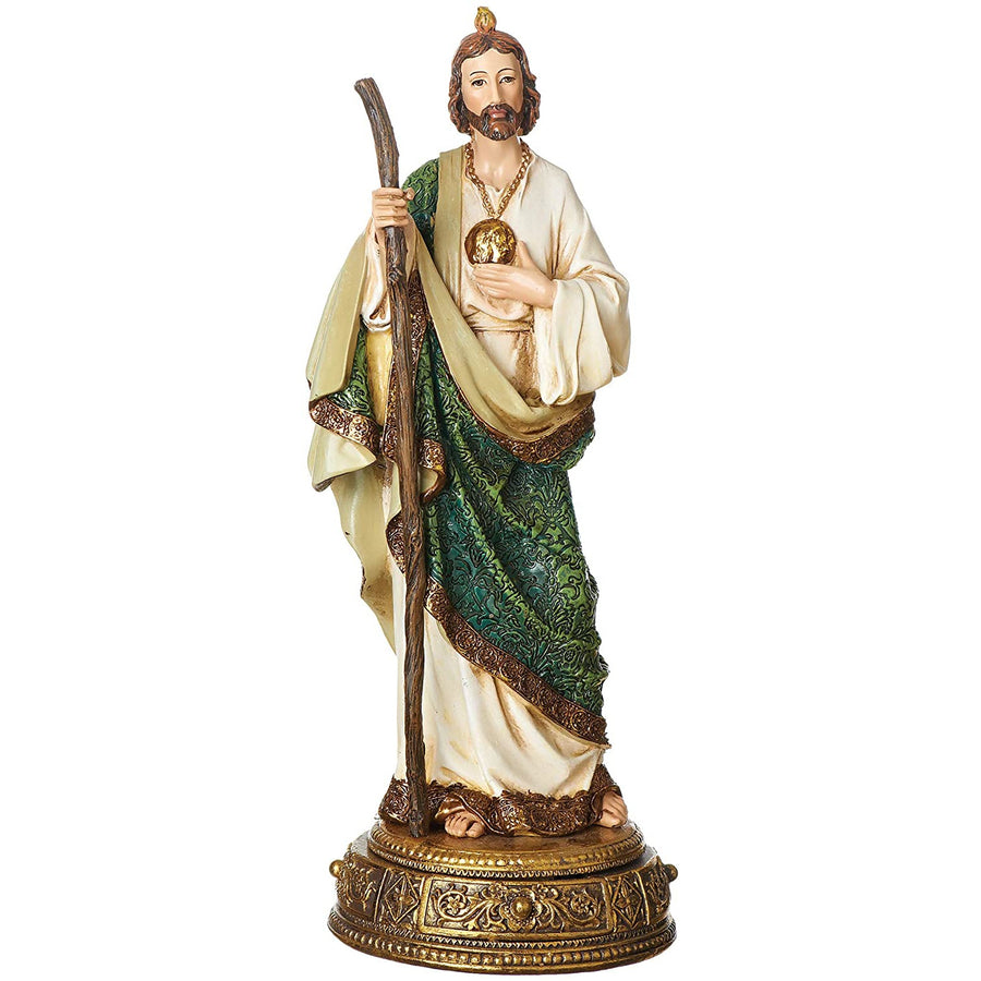 "Joseph's Studio by Roman - St. Jude Figure on Base, Heavenly Protectors, Renaissance Collection, 10.75"" H, Resin and Stone, Religious Gift, Decoration"