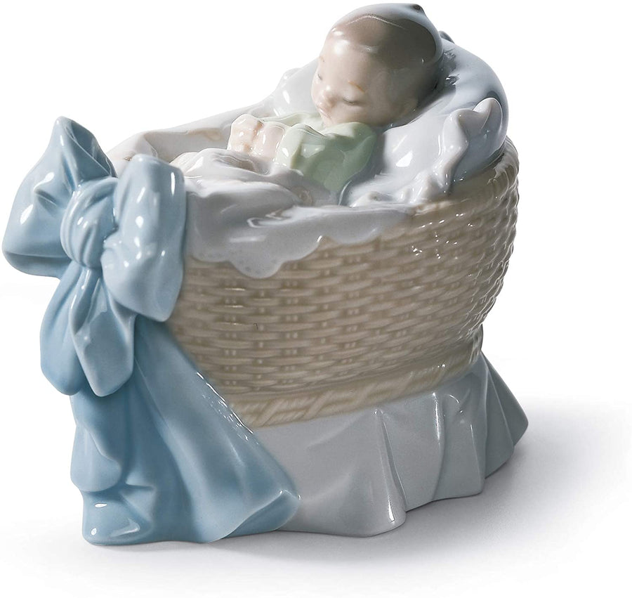 LLADRÓ A New Treasure Boy Figurine. Porcelain Baby Figure.