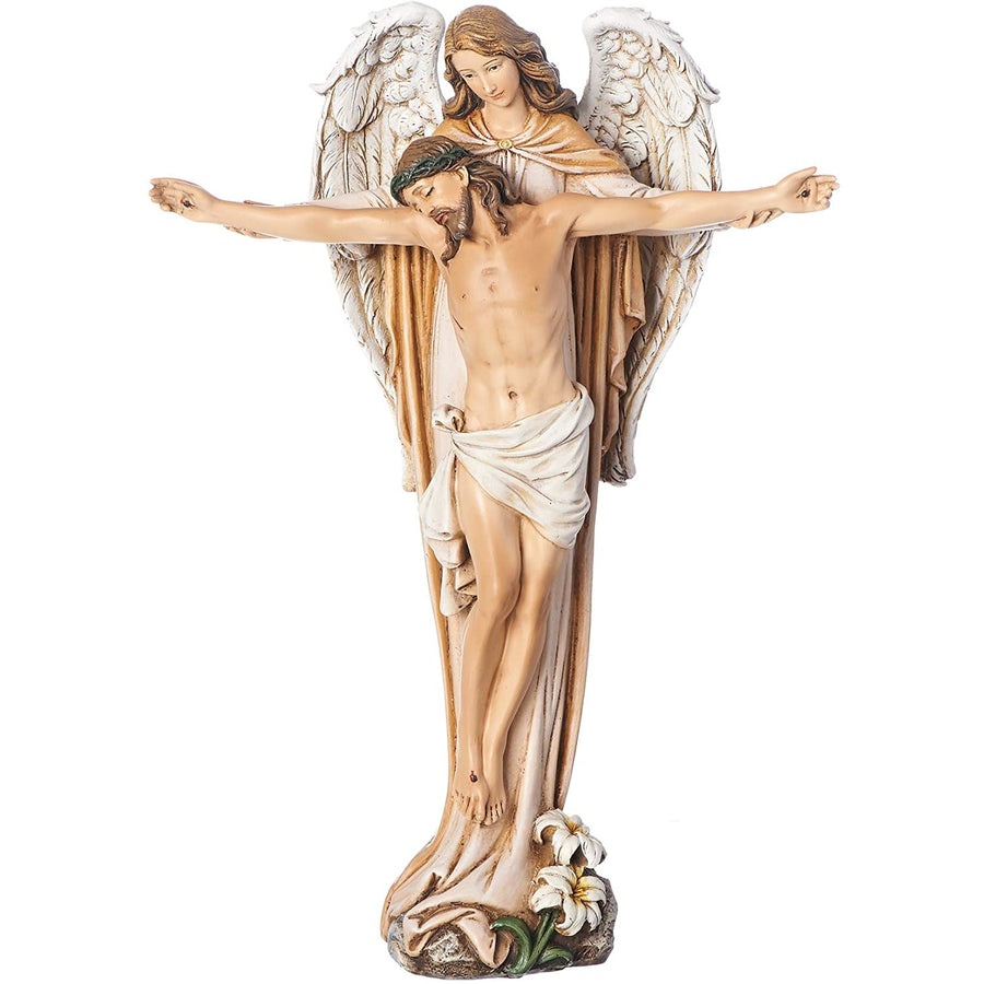"Joseph's Studio by Roman - Angel Carrying Jesus Figure, Renaissance Collection, 10"" H"