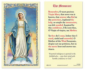 Our Lady of Grace - The Memorare Holy Card