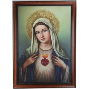 "Joseph's Studio by Roman - Collection, 27"" H Immaculate Heart Framed, Made from Resin, High Level of Craftsmanship and Attention to Detail, Durable and Long Lasting"