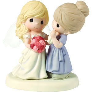 Precious Moments, My Daughter, My Pride, A Beautiful Bride Bisque Porcelain Figurine, Mother and Daughter, 153009