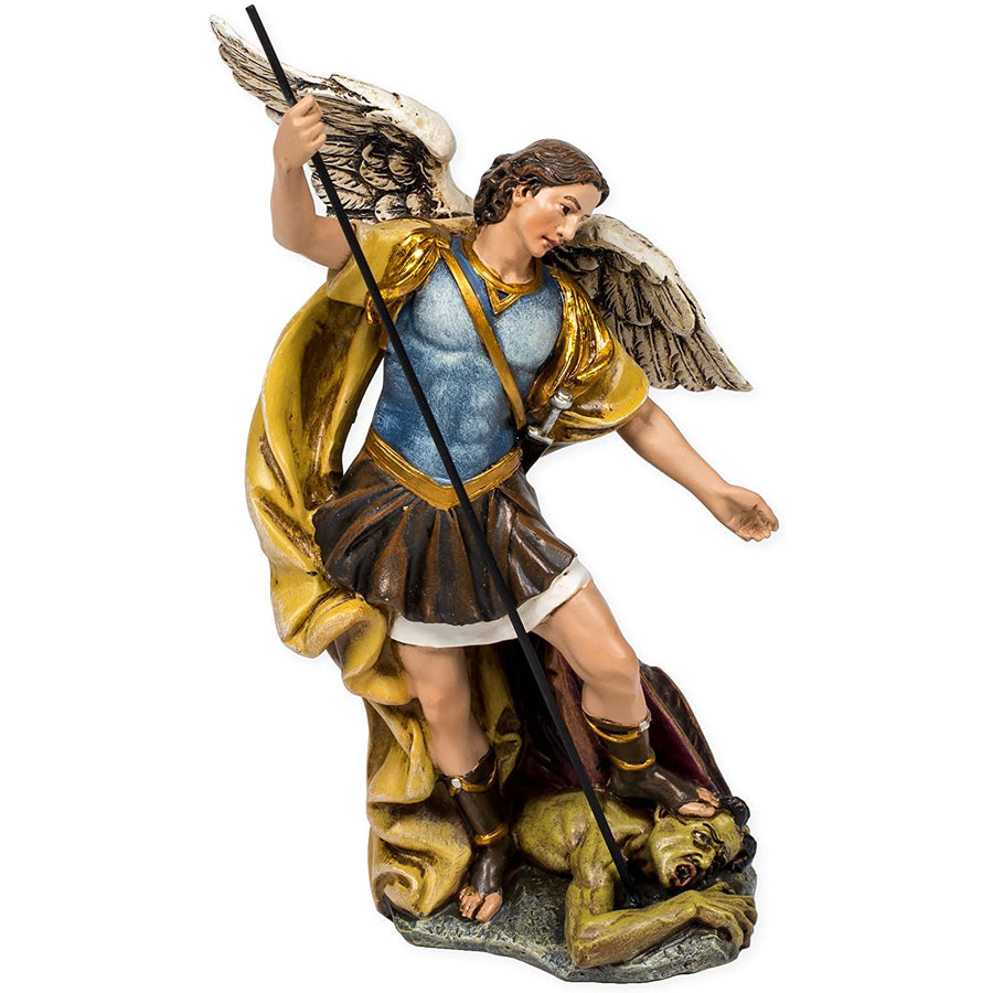 Renaissance Collection Joseph's Studio by Roman Exclusive St. Michael The Archangel Defeating Satan Figurine, 7.25-Inch