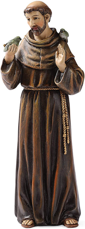 "Joseph's Studio by Roman - St. Francis Figure, 6"" Scale Renaissance Collection, 6.25"" H, Resin and Stone, Religious Gift, Decoration"