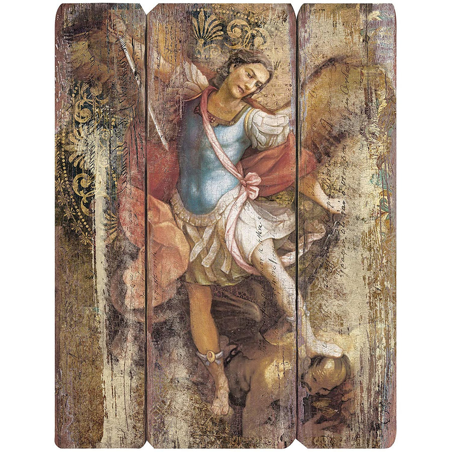 "Joseph's Studio by Roman - St. Michael Decorative Panel, 15"" H, Courageous Panels, Medium Density Fiberboard, Home Decor, Religious, Giftware, Decorative, Beautiful Detail"