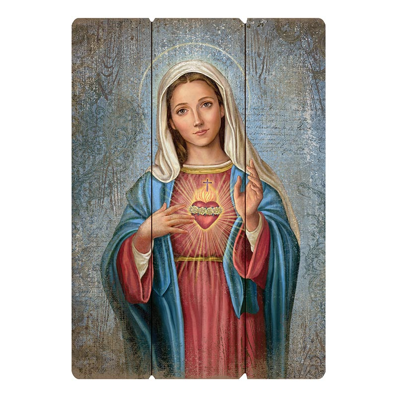 Large Format Immaculate Heart Pallet Sign