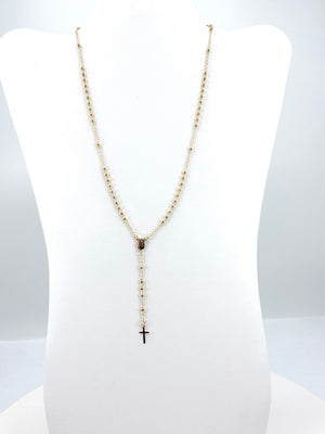 Silver/Gold-plated 3 toned Rosary Necklace