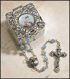 Boy's Blue Baptism Rosary