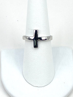 Ring with a Cross in Sterling Silver three colors Rose Gold, Gold, Silver