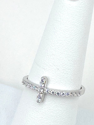 Cross Ring of Sterling Silver 925
