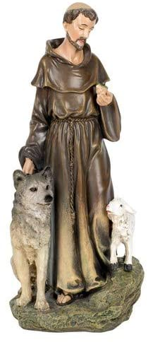 "ST FRANCIS FIGURE RENAISSANCE COLLECTION 9.75""H"