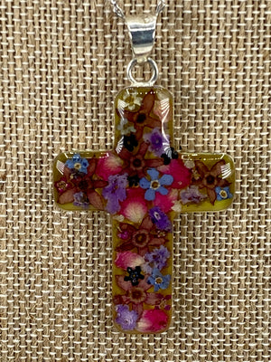 Cross with Flowers - Guadalupe Collection