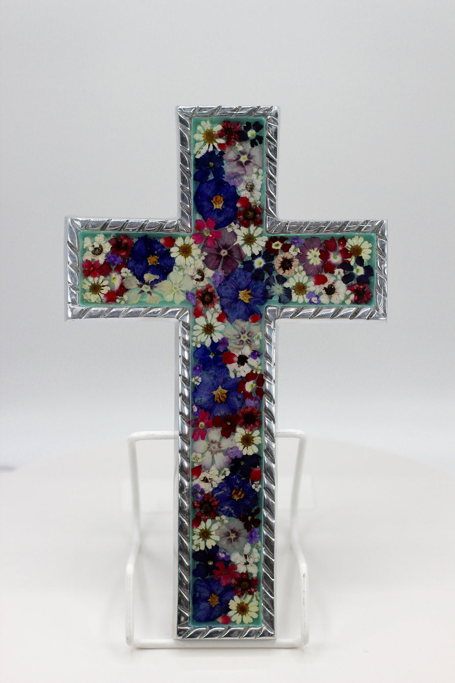 Cross Purple and Lila Flowers - Guadalupe Collection
