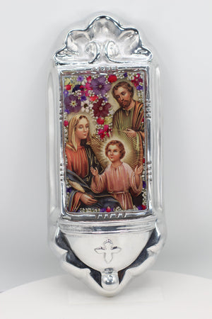 Holy Family water holder - Guadalupe Collection