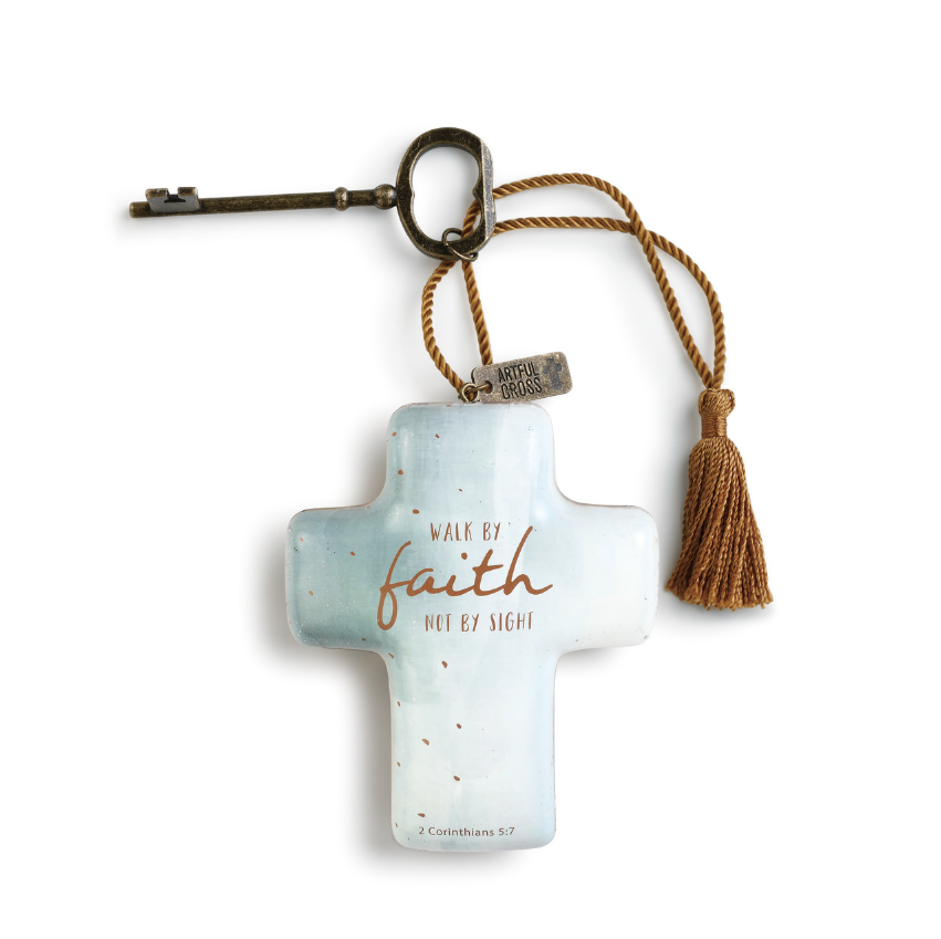 Walk by Faith Artful Cross