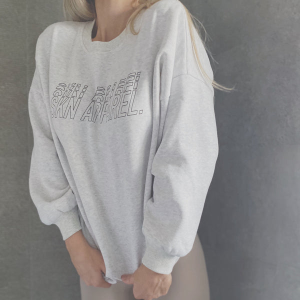 // SIGNATURE Heavyweight Oversized Sweater - Grey Marl
